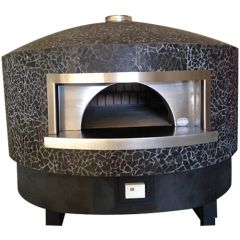 Ceky Black Marble Woodfired Pizza Oven 120mm with Gas Assist