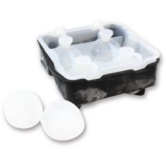 Tablecraft Silicone Ice Sphere Tray4 Ice Sphere Moulds