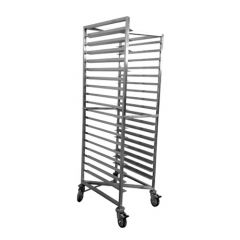 Stainless Bakers Trolley Z Frame for 18 inch trays