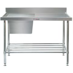 Simply Stainless Sink Bench With Splash Back 700mm